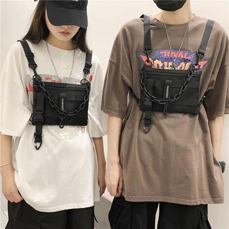 bolso de cintura de mensajero con múltiples bolsillos de moda hip hop al por mayor NHLH373769's discount tags