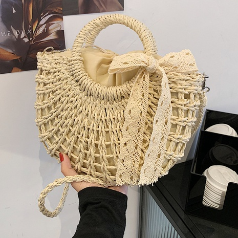 fashion hollow crossbody straw basket bag wholesale NHLH373786's discount tags