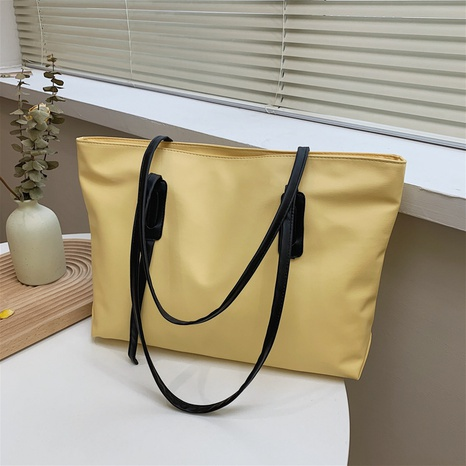 fashion retro simple large-capacity solid color one-shoulder tote bag NHRU373906's discount tags