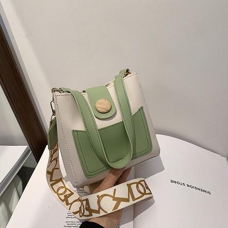 fashion buckle style portable shoulder messenger bucket bag wholesale NHRU373907's discount tags