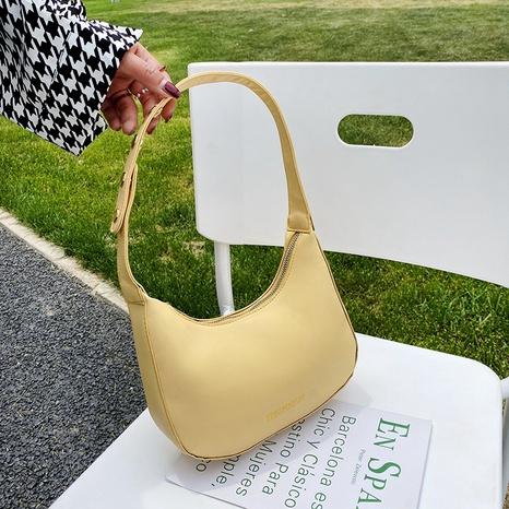Korean casual solid color portable shoulder small bag wholesale NHRU373908's discount tags