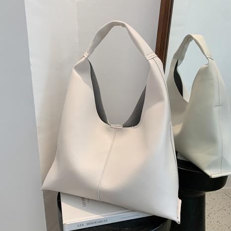 Korean fashion solid color large capacity shoulder tote bag wholesale NHJZ374091's discount tags