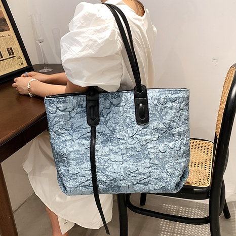 Korean fashion solid color large capacity tote bag wholesale NHJZ374099's discount tags