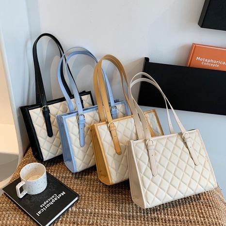 fashion lingge large-capacity shoulder tote bag wholesale NHJZ374206's discount tags