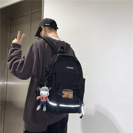 Korean style geometric nylon backpack wholesale NHJZ374207's discount tags