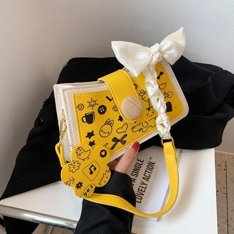 Korean fashion printing diagonal small square bag wholesale NHJZ374205's discount tags