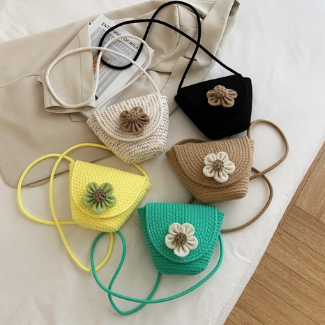 fashion sunflower shoulder messenger straw woven bag wholesale NHJZ374209's discount tags