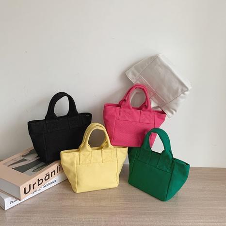 simple solid color large-capacity shoulder canvas bag wholesale NHJZ374210's discount tags