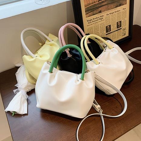 Korean style fashion contrast cloud messenger bag wholesale NHJZ374212's discount tags