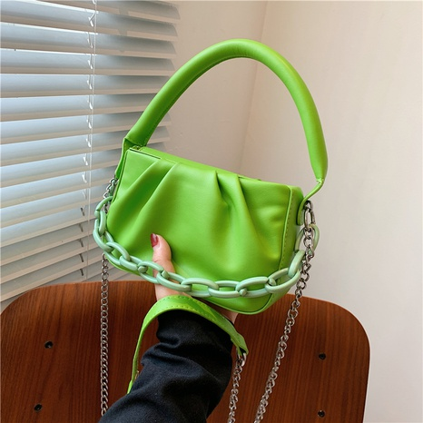 fashion solid color with chain cloud messenger bag wholesale NHJZ374213's discount tags