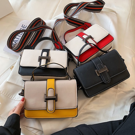 fashion wide shoulder buckle messenger bag wholesale NHJZ374214's discount tags