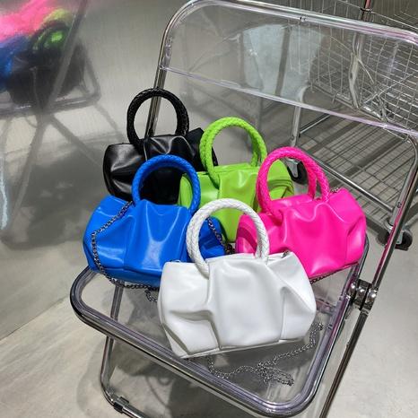 Korean fashion with chain fold cloud messenger bag wholesale NHJZ374215's discount tags