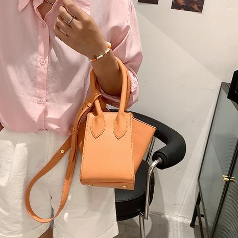 retro solid color single shoulder bag wholesale NHJZ374216's discount tags