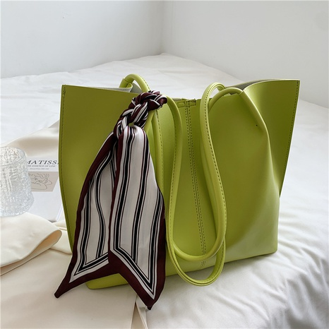 fashion solid color with silk scarf large-capacity messenger bag wholesale NHJZ374221's discount tags