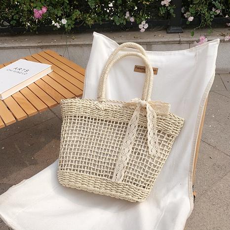 fashion retro shoulder straw woven bag wholesale NHJZ374223's discount tags