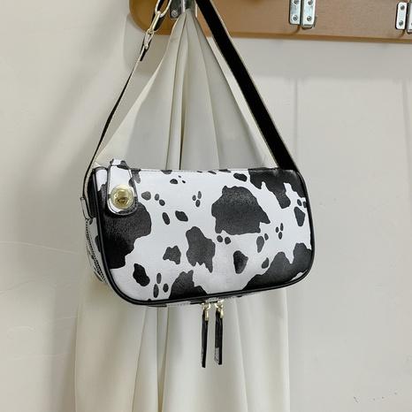 retro cow pattern underarm shoulder bag wholesale NHJZ374232's discount tags