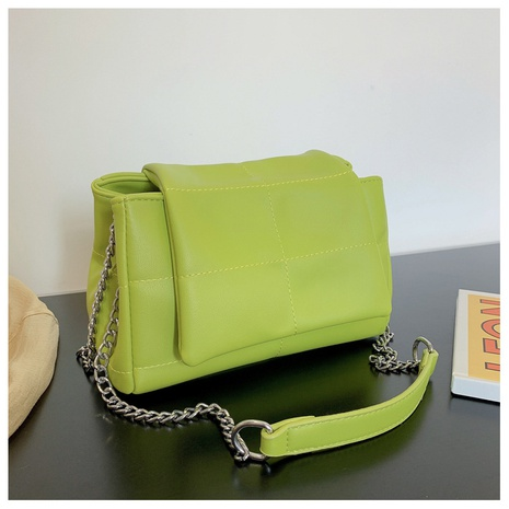 casual solid color large-capacity chain shoulder messenger bag wholesale NHJZ374233's discount tags