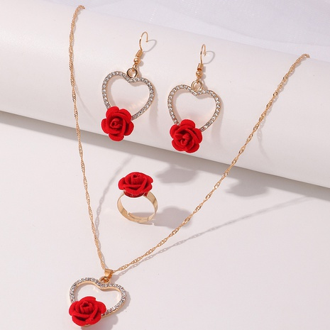 Nihaojewelry wholesale butterfly rose snake-shaped earrings necklace set NHNZ374443's discount tags