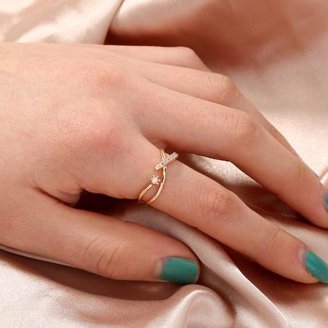 wholesale jewelry cross zircon opening copper ring Nihaojewelry NHAN374507's discount tags
