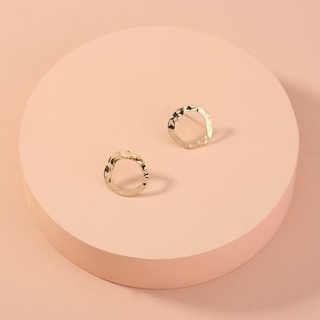 Großhandel Schmuck unregelmäßige Legierung Kreis Ohrringe Nihaojewelry NHAN374522's discount tags