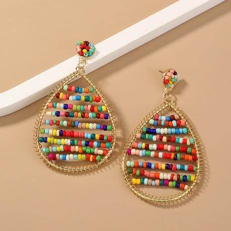 wholesale jewelry bohemia multi-color beads pendant earrings Nihaojewelry NHAN374530's discount tags