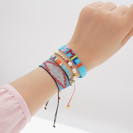 Wholesale Nihaojewelry beads woven glass lucky eye bracelet  NHBDB374599's discount tags