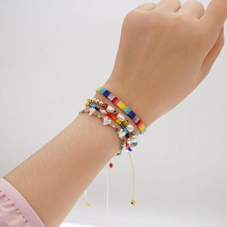 Nihaojewelry ethnic style evil eye beads woven pearl bracelet jewelry Wholesale NHGW374725's discount tags