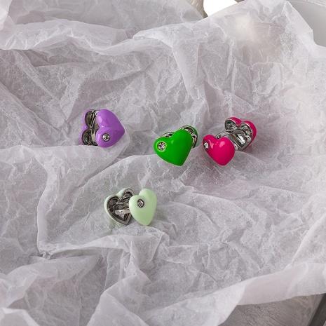 Großhandel Schmuck Farbe Tropfen Glasur Liebe Ohr Knochen Clip Nihaojewelry NHMS374756's discount tags