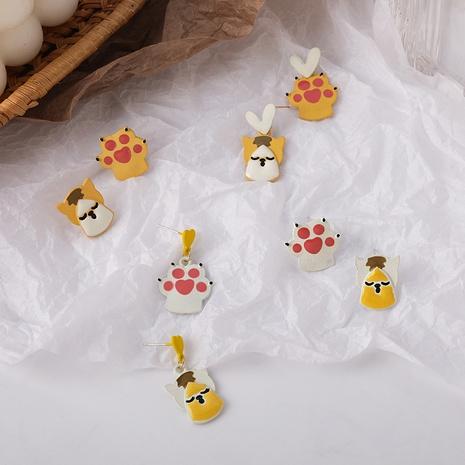 wholesale jewelry cat claw asymmetrical earrings Nihaojewelry NHMS374767's discount tags
