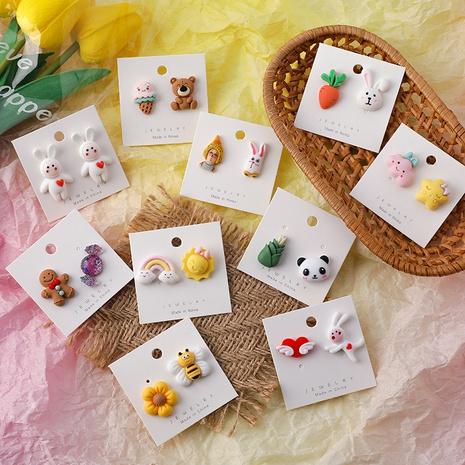 Joyería al por mayor Animal Rabbit Cloud Resina Pendiente Nihaojewelry NHMS374770's discount tags