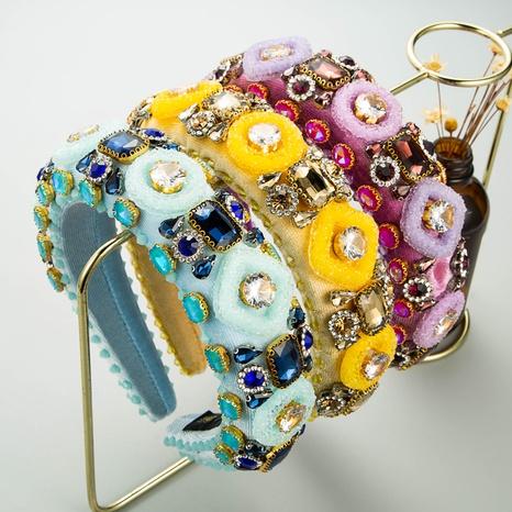Diadema de franela de cristal de diamante de cristal al por mayor de joyería de Nihaojewelry NHLN374950's discount tags
