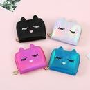 nihaojewelry fashion cartoon cat short laser wallet wholesale  NHGO375680