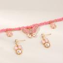 Nihaojewelry Jewelry Wholesale Childrens Necklace Earrings Butterfly Pendant Necklace NHNU374989