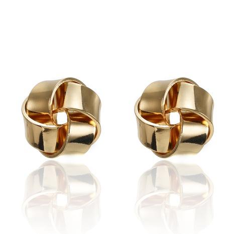 Nihaojewelry einfache Art unregelmäßige kreative runde Twist Ohrringe Großhandel Schmuck NHGQ374812's discount tags