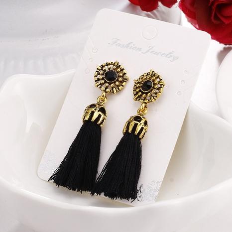 Nihaojewelry retro style velvet cotton tassel earrings Wholesale jewelry NHGQ374814's discount tags