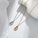 wholesale jewelry fashion metal shell pendant necklace nihaojewelry NHGQ374827