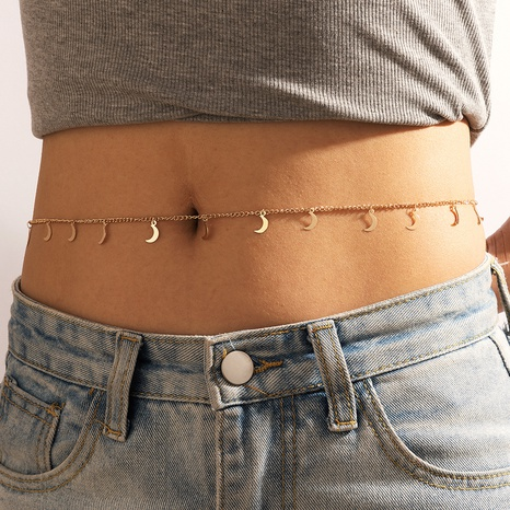 Nihaojewelry jewelry wholesale new moon tassel waist chain NHGY374961's discount tags