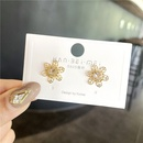 wholesale jewelry fashion inlaid pearl flower earrings nihaojewelry NHPA375073