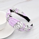 wholesale jewelry retro geometric flower fabric knotted hairband nihaojewelry NHCL375121