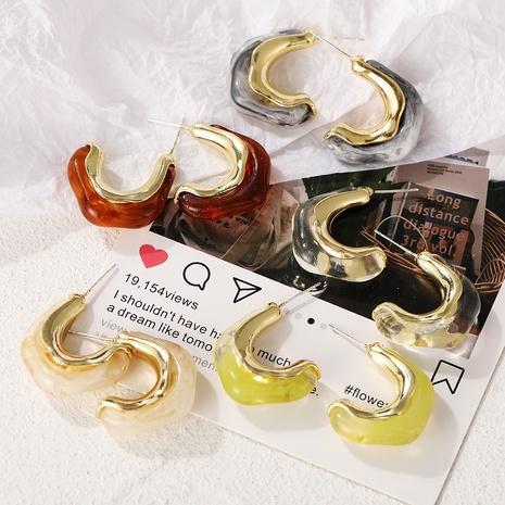 wholesale jewelry retro irregular acrylic earrings nihaojewelry NHPJ375130's discount tags