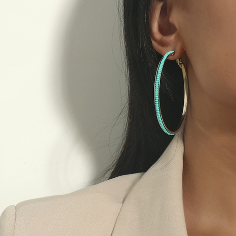 Nihaojewelry exaggerated rice bead alloy earrings Wholesale jewelry  NHKQ375147's discount tags