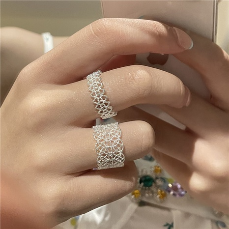 wholesale jewelry retro lace carved ring Nihaojewelry NHYQ375210's discount tags