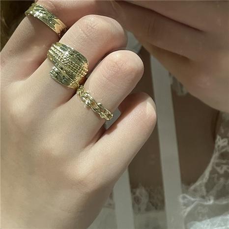 wholesale jewelry retro geometric opening ring Nihaojewelry NHYQ375239's discount tags