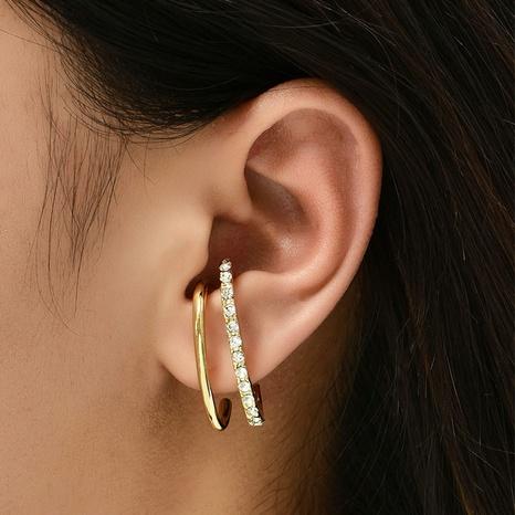 Al por mayor joyería de moda pendientes de diamantes con incrustaciones simples nihaojewelry NHAJ378739's discount tags