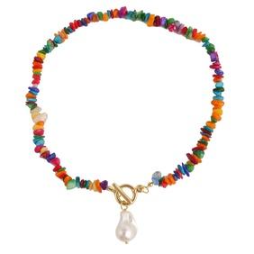 wholesale jewelry gravel drop pearl pendant necklace Nihaojewelry NHJJ375319