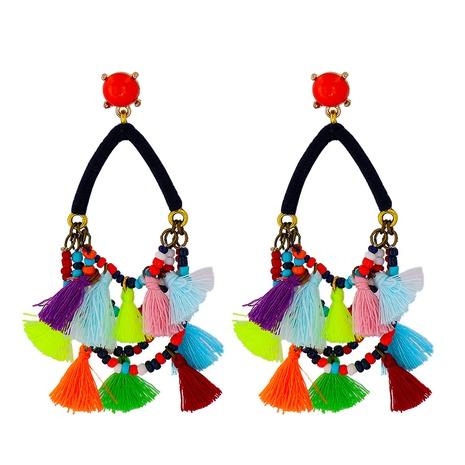 wholesale jewelry bohemia color tassel earrings Nihaojewelry NHJJ375337's discount tags