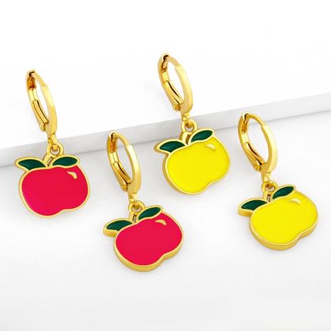 Nihaojewelry cute fruit apple earrings Wholesale jewelry NHAS375346's discount tags