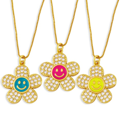 Nihaojewelry Hip-Hop-Stil Smiley Blume Halskette Großhandel Schmuck NHAS375349's discount tags