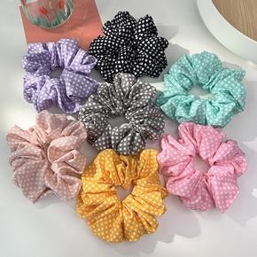 Nihaojewelry Korean style polka dots hair scrunchies Wholesale jewelry NHOF375431