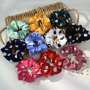 Nihaojewelry Korean style big polka dot head scrunchies Wholesale jewelry NHOF375434